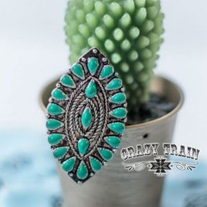 Crazy Train TURQUOISE ** THE MASK RING  Adjustable